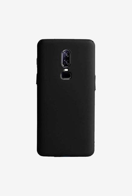 DailyObjects Black Matte Reveal Case Cover For OnePlus 6