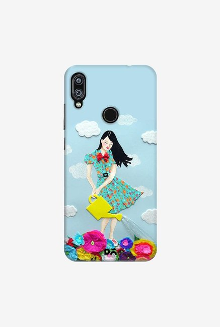 DailyObjects Girl In Flowerland Case Cover For Redmi Note 7