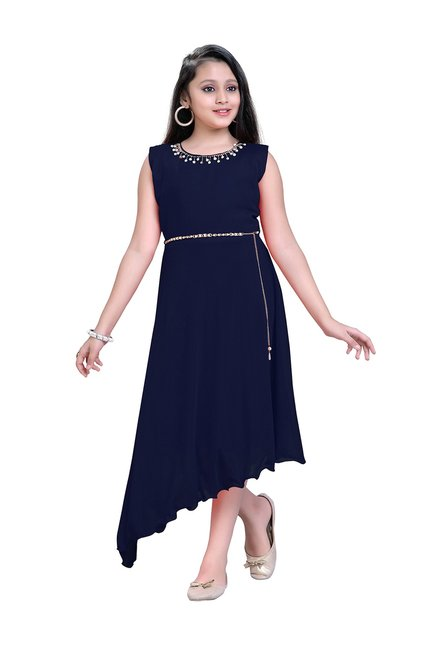 b1d43370134 Buy Aarika Kids Navy Embellished Gown for Girls Clothing Online ...