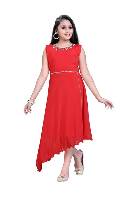 40ed09614f4 Buy Aarika Kids Red Embellished Gown for Girls Clothing Online ...