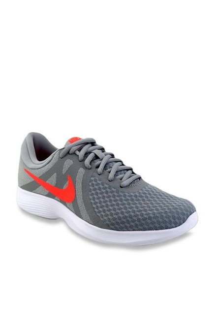 Halar crimen nombre  Nike Revolution 4 Cool Grey Running Shoes from Nike at best prices on Tata  CLiQ