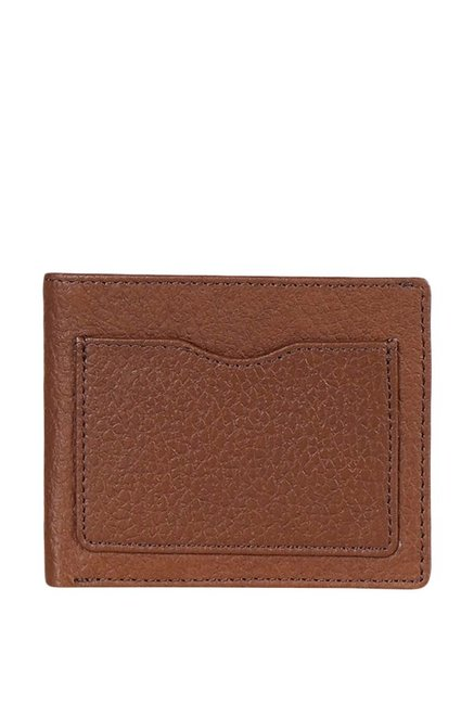 Justanned Tan Casual Leather Card Case for Men