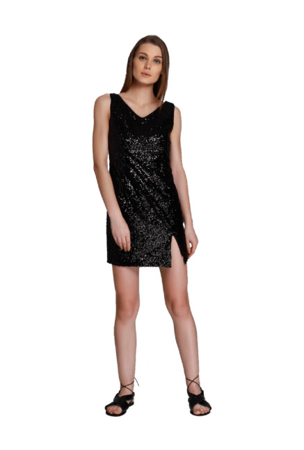 46c6fbc61e9 Buy Only Black Embellished Above Knee Dress for Women Online ...