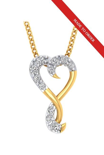 P.N.Gadgil Jewellers Heart 22 kt Gold Pendant