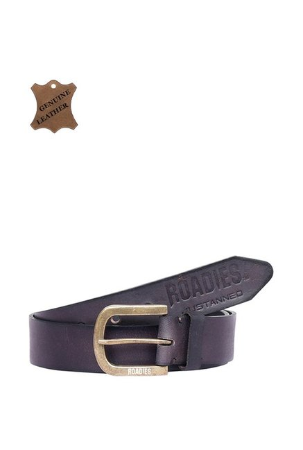 Roadies Brown Leather Casual Belt for Men