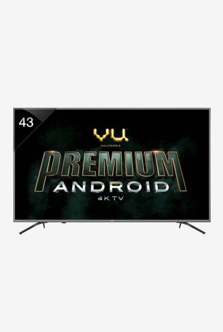 Vu 108 cm  43 Inches  Smart 4K Ultra HD Android LED TV 43 OA  Titanium Grey