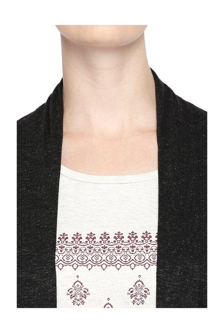 5d1e776786b Buy Ajile by Pantaloons Black Textured Shrug for Women Online   Tata ...