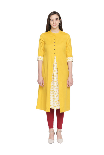 Rangmanch by Pantaloons Yellow Printed Kurta