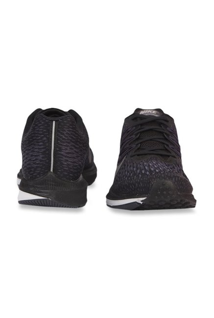 the best attitude 49a01 ed6ef Buy Nike Zoom Winflo 5 Black Running Shoes for Men at Best ...