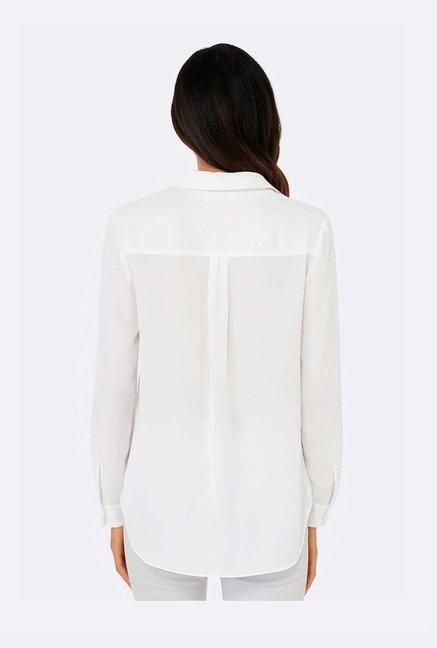 d5751c930 Buy Forever New White Relaxed Fit Shirt for Women Online @ Tata CLiQ