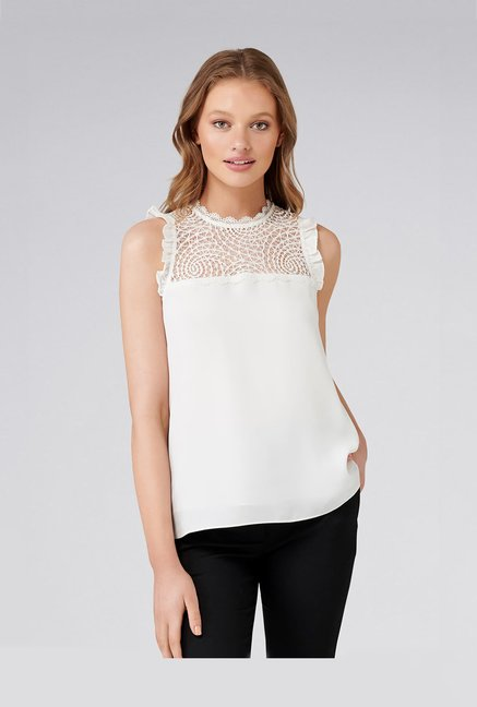 faf3633b0 Buy Forever New Off white Lace Top for Women Online @ Tata CLiQ