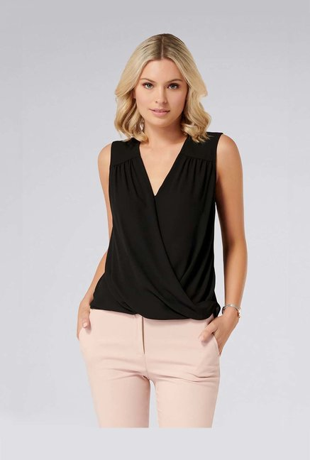Forever New Black Relaxed Fit Top