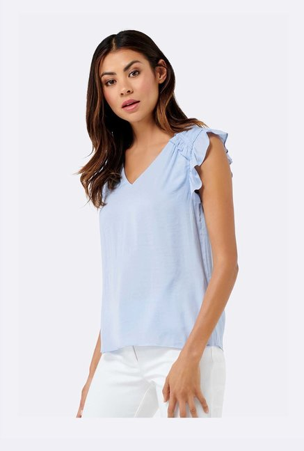 Forever New Blue Regular Fit Top