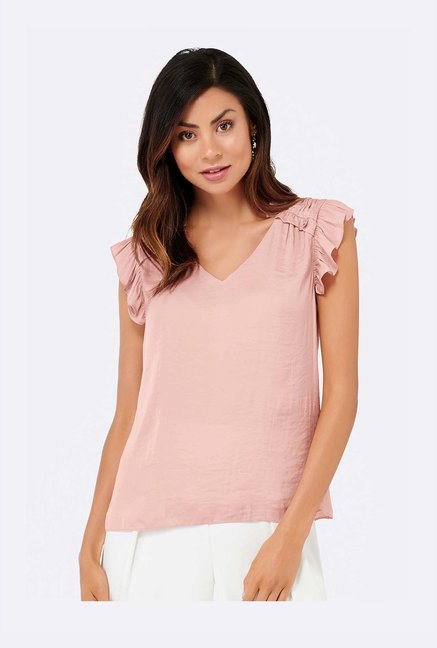 Forever New Pink Regular Fit Top