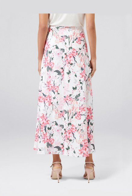 8ee5de11a4 Buy Forever New White Floral Print Skirt for Women Online @ Tata CLiQ