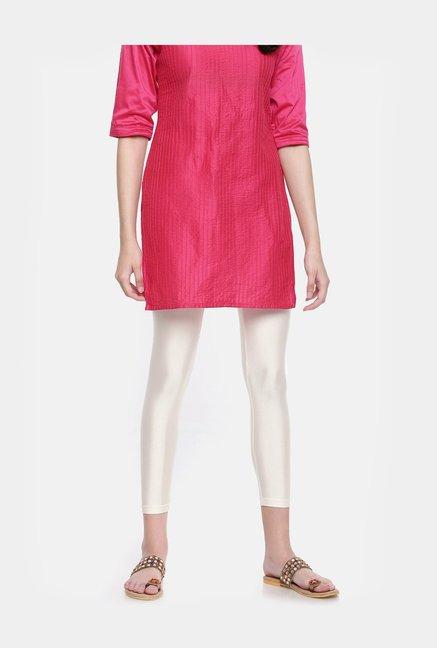 dca98bde1b42b3 Buy Go Colors Cream Metallic Pattern Leggings for Women Online @ Tata CLiQ
