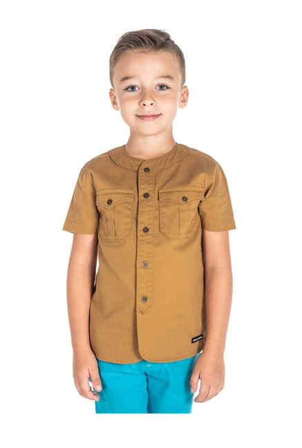 c0ce1e1e Buy Cherry Crumble California Kids Brown Solid Shirt for Boys ...