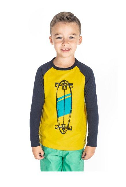 6faa0dacc Buy Cherry Crumble California Kids Yellow Printed T-Shirt for Boys Clothing  Online @ Tata CLiQ