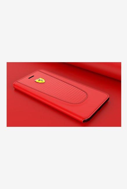 Ferrari California T Series Leather Flip Cover For Apple iPhone 7  Red  Ferrari Electronics TATA CLIQ