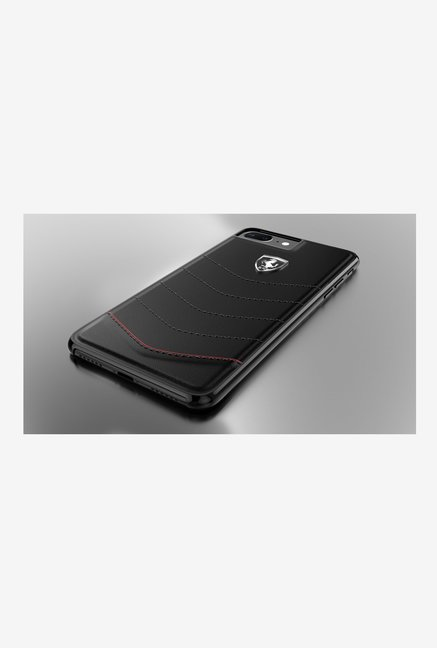 buy popular d7967 3f6a2 Buy Ferrari Leather Back Cover For iPhone 7 Plus Online At Best ...
