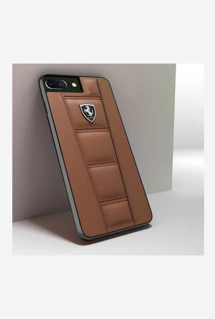 big sale c1680 4ac29 Buy Ferrari Leather Back Cover For iPhone 7 Plus Online At Best Price ...