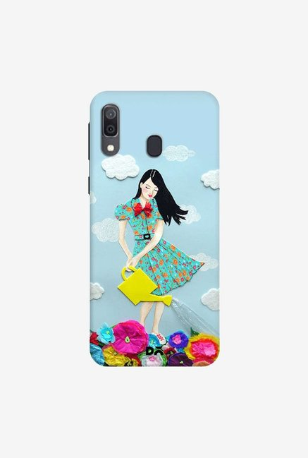 DailyObjects Girl In Flowerland Case Cover For Samsung Galaxy A30