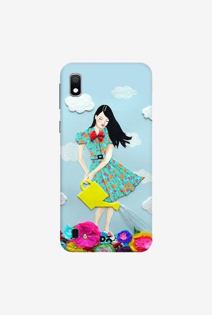 DailyObjects Girl In Flowerland Case Cover For Samsung Galaxy A10