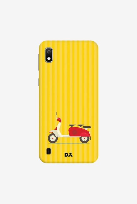 DailyObjects 3 To Go Scooter Yellow Striped Case Cover For Samsung Galaxy A10