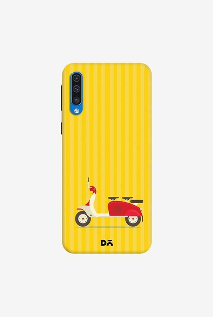 DailyObjects 3 To Go Scooter Yellow Striped Case Cover For Samsung Galaxy A50