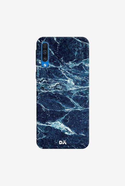 DailyObjects Black And Sea Marble Case Cover For Samsung Galaxy A50