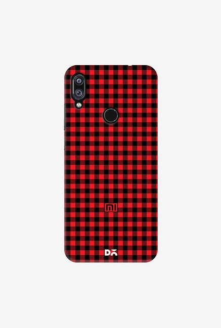 DailyObjects Crimson Gingham Case Cover For Xiaomi Redmi Note 7 Pro