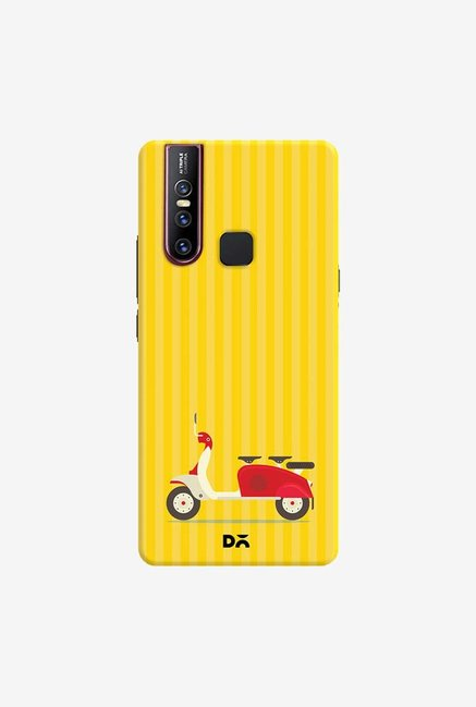 DailyObjects 3 To Go Scooter Yellow Striped Case Cover For Vivo V15