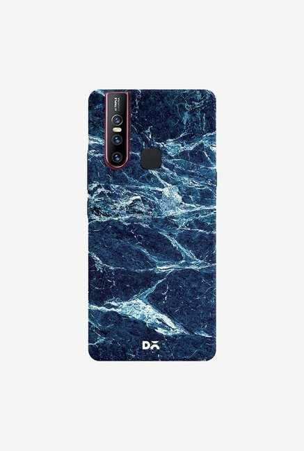 DailyObjects Black And Sea Marble Case Cover For Vivo V15