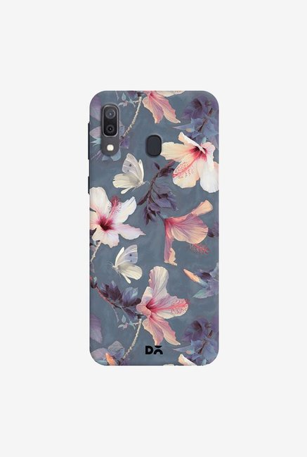DailyObjects Butterflies And Hibiscus Flowers Case Cover For Samsung Galaxy A30