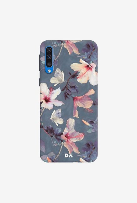 DailyObjects Butterflies And Hibiscus Flowers Case Cover For Samsung Galaxy A50