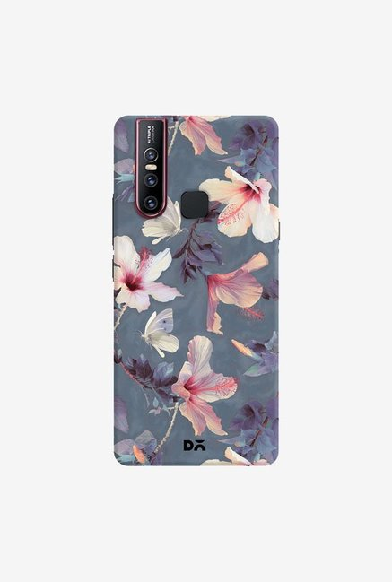 DailyObjects Butterflies And Hibiscus Flowers Case Cover For Vivo V15
