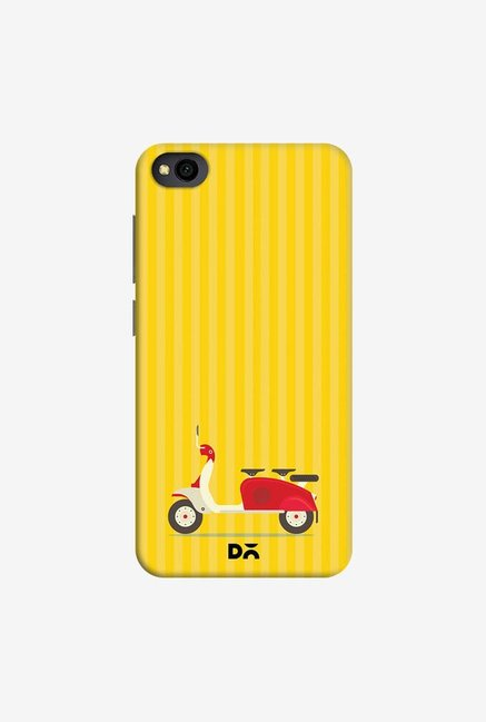 DailyObjects 3 To Go Scooter Yellow Striped Case Cover For Xiaomi Redmi Go