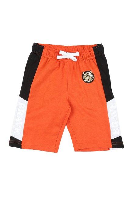 d63f2d799d Buy Pantaloons Junior Orange Textured Shorts for Boys Clothing ...