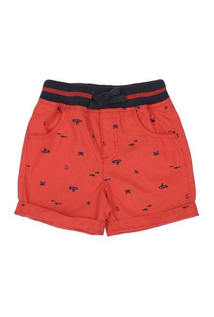 053d9404f2 Buy Pantaloons Baby Red Printed Shorts for Boys Clothing Online @ Tata CLiQ