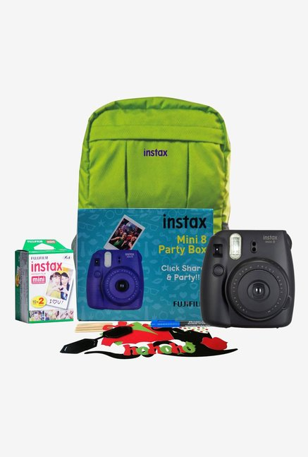 Fujifilm Instax Mini 8 Party Box Instant Camera  Black
