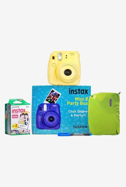 Fujifilm Instax Mini 8 Party Box Instant Camera  Yellow  Fujifilm Electronics TATA CLIQ