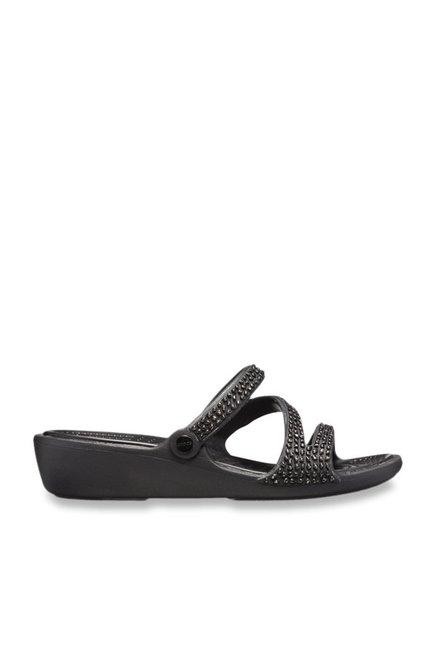 c62b329cf Buy Crocs Patricia Diamante Black Wedges for Women at Best Price ...