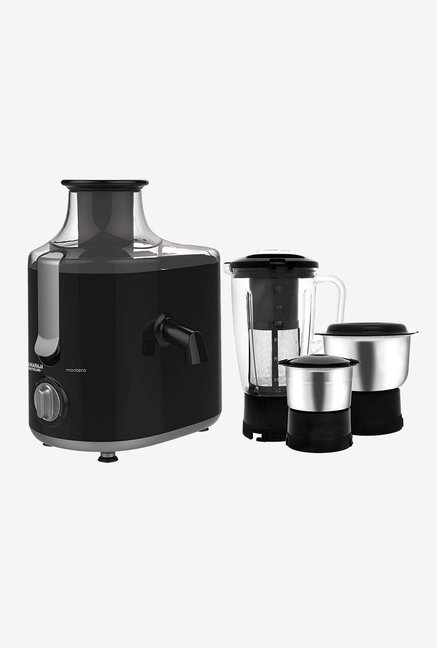 Maharaja Whiteline Montero JX 126 550W 3 Jars Juicer Mixer Grinder  Premium Black/Silver