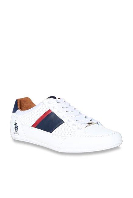 Buy U.S. Polo Assn. Sola White Sneakers