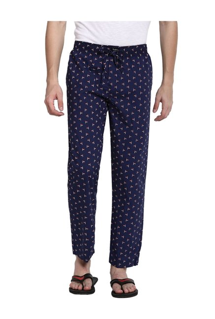 official photos 5a46a 39382 Buy Pepe Jeans London Navy Printed Pyjamas for Men Online ...