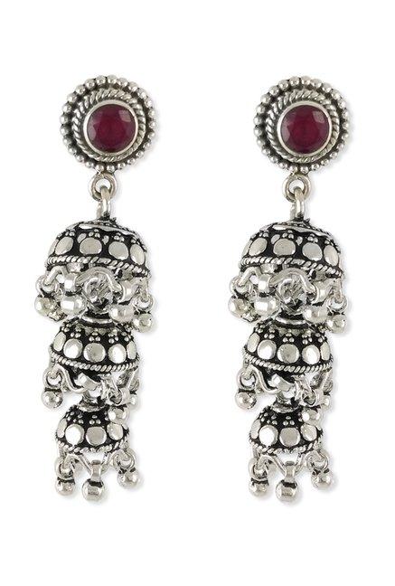 Taraash Three Laye 925 Sterling Silver Earrings