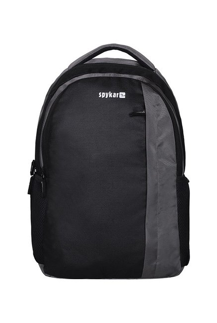 Spykar Black Polyester Laptop Backpack