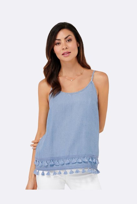 Forever New Blue Round Neck Top