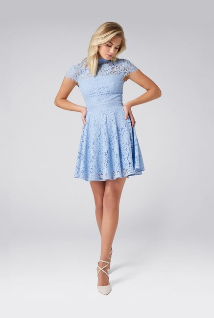 040a17a9a13e Buy Forever New Blue Lace Mini Dress for Women Online @ Tata CLiQ