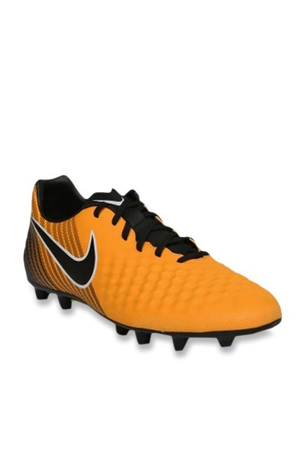 premium selection e95cb 08201 Buy Nike Magistax OLA II TF Mustard Yellow Football Shoes for Men at Best  Price   Tata CLiQ